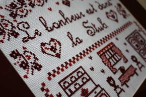 French cross-stitch embroidery craft